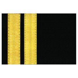 Pilot Epaulets – 2 Bar Gold/Black