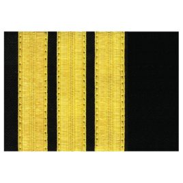Pilot Epaulets – 3 Bar Gold/Black